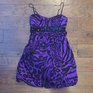 Purple and Black Anima Print dress